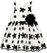 Nanette Lepore Embroidered Floral Mesh Dress, Baby Girls (0-24 months)