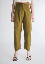 Lvir LVIR Women's Cotton Twill Round Fit Pants in Olive Khaki, Size 38