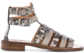 Church's Deb python-print gladiator sandals