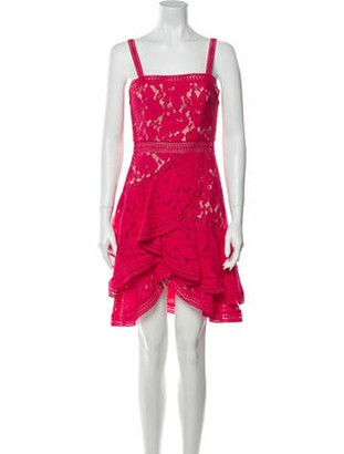 Alice + Olivia Lace Pattern Knee-Length Dress w/ Tags Pink