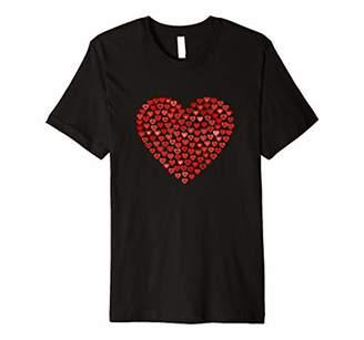 Red Heart Valentine's Day T-Shirt Women Girls Premium T-Shirt