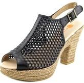 Eric Michael Jayden Open Toe Leather Platform Sandal.