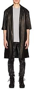 Fear Of God Men's Crop-Sleeve Leather Coat - Black