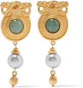 Ben-Amun Gold-tone bead earrings