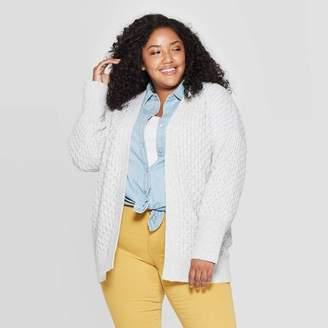 Universal Thread Women's Plus Size Long Sleeve Honeycomb Open Layering Cardigan