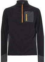 Aztech Mountain - Jackpot Panelled Fleece Half-zip Sweater - Black
