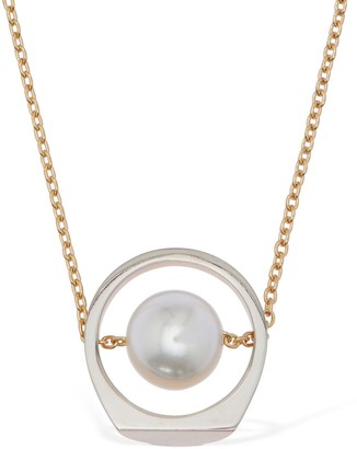 Maison Margiela Chain Necklace W/ Imitation Pearls