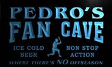 AdvPro Name tc178-b Pedro's Baseball Fan Cave Man Room Bar Beer Neon Light Sign