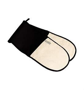 Le Creuset Double Oven Glove Black And Cream