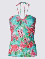 Marks and Spencer Floral Print Halter Neck Tankini Top