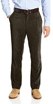 Louis Raphael Men's Flat Front Modern Fit 11 Wale Corduroy Dress Pant
