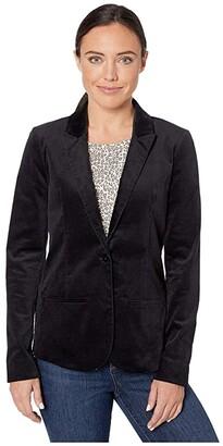 NYDJ Velvet Blazer (Black) Women's Clothing