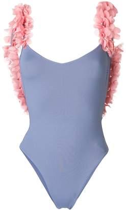 La Reveche Amira frill strap swimsuit