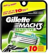 Gillette Mach3 Men's Razor Blade Refills, Sensitive, 10 Count
