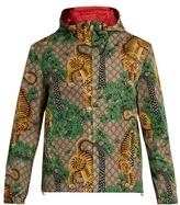 Gucci Tiger-print Hooded Jacket