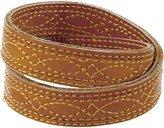 Frye Campus Stitch Leather Wrap Bracelet, Sunrise Dakota