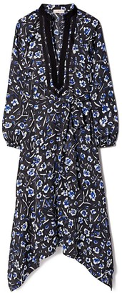 Tory Burch Puff-Sleeve Tunic Dress