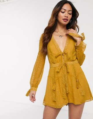 Stevie May Dysania Playsuit in yellow