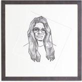 """Jonathan Adler Kunath """"Gloria Steinem"""" Original Framed Print"""