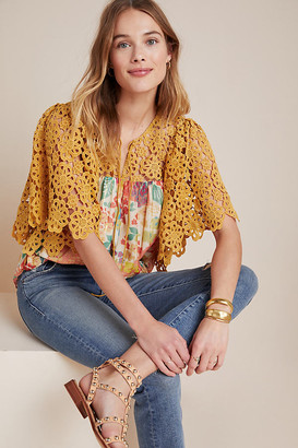 Adoria Crochet Blouse By Mynah Designs in Assorted Size XS