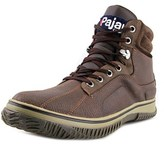 Pajar Gerardo Men Round Toe Leather Brown Snow Boot.