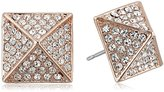 Vince Camuto Rose Gold and Crystal Stud Earrings
