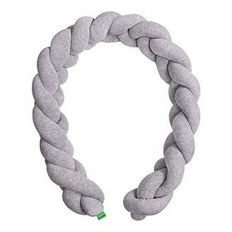 Camilla And Marc LULANDO COT BUMPER BRAID - BRAID WELUR 200 cm and 300 cm long, springy anti-allergenic, anti-allergenic, certified by Oeko-Tex, for the kid's room (Size: 300 cm, Colour: Grey)