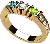 Central Diamond Center NANA S-Bar W/Sides Mother's Ring 1 to 6 - 14k Yellow Gold - Size 8