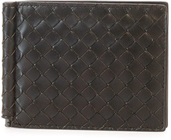Bottega Veneta Basic Woven Wallet with Money Clip