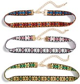 Cara Women's Set Of Three Choker Necklaces