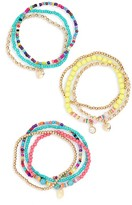 Cara Girl's Set Of 10 Beaded Bracelets