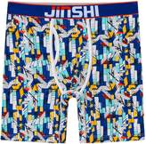 YKC JINSHI Men's Crazy Soft Bamboo Underwear Long Boxer Briefs Graphic with Fly