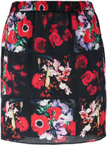 Kenzo Antonio Lopez mini skirt - women - Silk/Polyester - 36