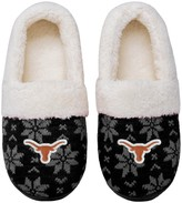 Unbranded Women's Texas Longhorns Ugly Knit Moccasin Slippers