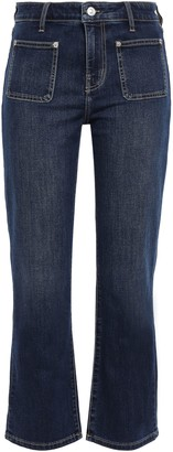 Current/Elliott Riptide Cropped High-rise Straight-leg Jeans