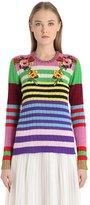 Gucci Embroidered Cashmere & Wool Sweater