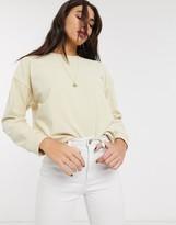 Topshop sweatshirt in ecru