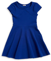 Sally Miller Girls 7-16 Girls Textured Fit-and-Flare Dress