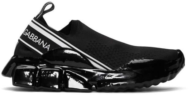 Dolce & Gabbana Black Mesh Sorrento Melt Sneakers