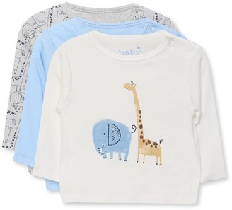 M&Co Animal t-shirts three pack (Newborn-18mths)