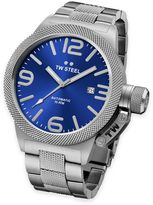 TW Steel Canteen Unisex 50mm Watch in Stainless Steel with Sunray Blue Face