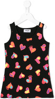 Moschino Kids hear print tank top