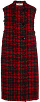 Marni Checked Wool-blend Tweed Vest - Red