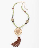 Chico's Kristi Pendant Tassel Necklace