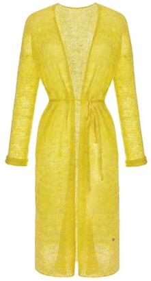 You By Tokarska Fog Long Sweater With Belt Yellow