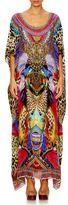 Camilla Jambo Jambo Mixed-Printed Silk Caftan