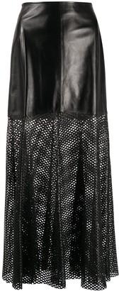 Simonetta Ravizza Lattice-Panelled Skirt