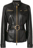 Roberto Cavalli classic biker zipped jacket