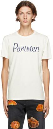 MAISON KITSUNÉ Off-White Parisien Classic T-Shirt