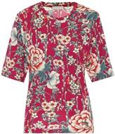 Etro Floral jersey-crepe T-shirt